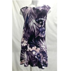 Connected Apparel Purple Flower Dress